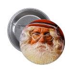 Retrato de Papá Noel del navidad del padre del Vie Pin Redondo 5 Cm