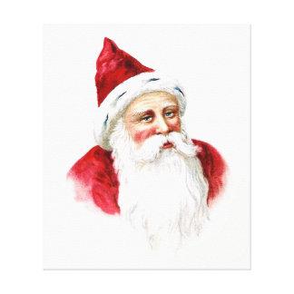 Retrato de Papá Noel Impresión En Lienzo