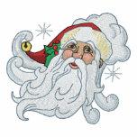 Retrato de Papá Noel Sudaderas Embordadas Personalizadas