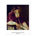 Retrato de papa Paul Iii. Farnese por Titian Postales