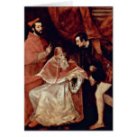 Retrato de papa Paul Iii por Titian Tarjeta De Felicitación