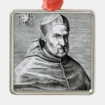 Retrato de papa Pío IV, 1559 Adorno Navideño Cuadrado De Metal