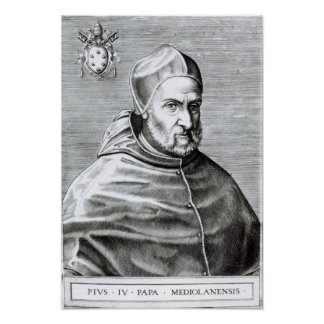 Retrato de papa Pío IV, 1559 Poster