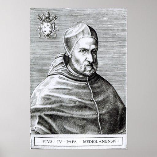 Retrato de papa Pío IV, 1559 Póster