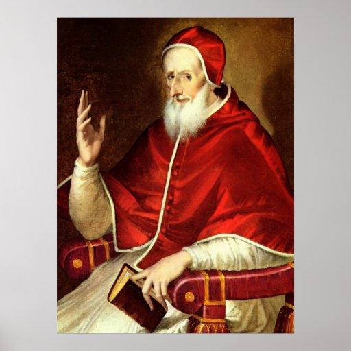 """Retrato de papa Pious V' Impresiones"