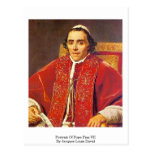 Retrato de papa Pius Vii de Jacques-Louis David Postales