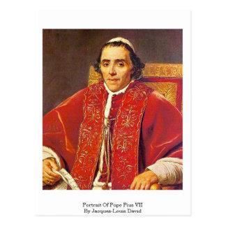 Retrato de papa Pius Vii de Jacques-Louis David Tarjeta Postal