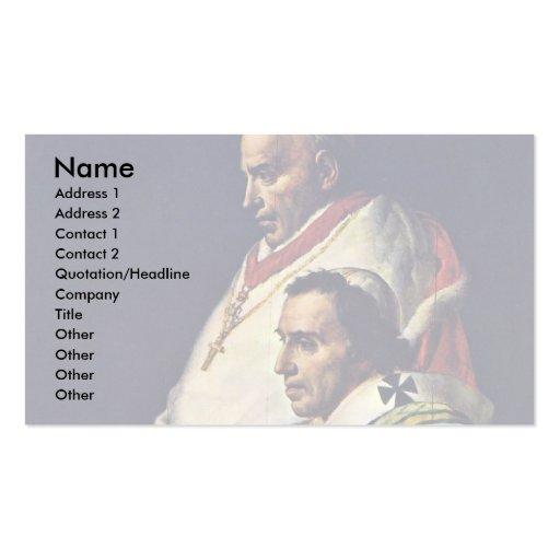 Retrato de papa Pius Vii y Caprara cardinal., B Plantillas De Tarjetas Personales