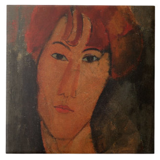 Retrato de Pardy, c.1915 (aceite en lona) Azulejo Cuadrado Grande