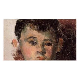 Retrato de Paul Cezanne- del hijo del artista Tarjetas De Visita