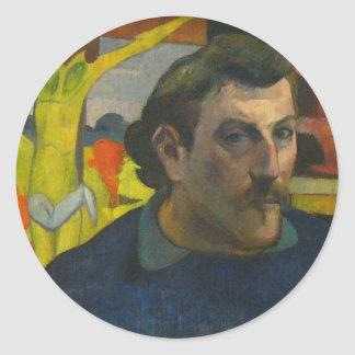 Retrato de Paul Gauguin, 1889 Etiquetas Redondas