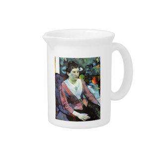Retrato de Paul Gauguin- de la mujer Jarrón