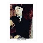 Retrato de Paul Guillaume de Modigliani Amedeo Postal