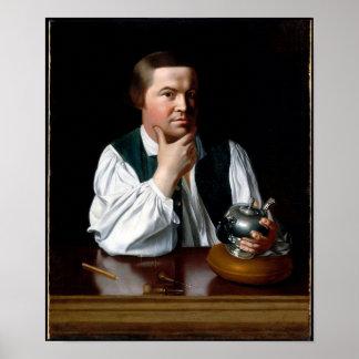 Retrato de Paul Revere Póster