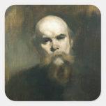 Retrato de Paul Verlaine 1890 Calcomanía Cuadradas Personalizada