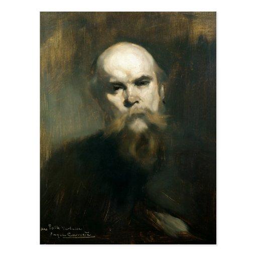 Retrato de Paul Verlaine 1890 Tarjeta Postal