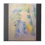 Retrato de Paule Gobillard de Berthe Morisot Azulejo Cerámica