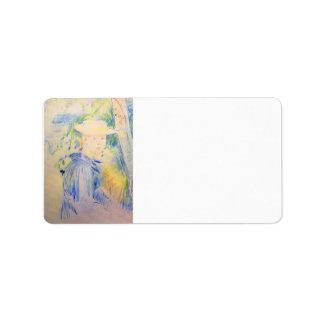 Retrato de Paule Gobillard de Berthe Morisot Etiquetas De Dirección