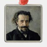 Retrato de Pavel Blaramberg 1888 Adorno Cuadrado Plateado