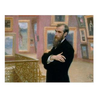Retrato de Pavel Tretyakov en la galería Postales