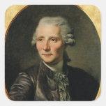 Retrato de Pedro Agustín Caron de Pegatinas Cuadradases