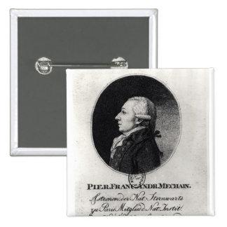 Retrato de Pedro Mechain Pin Cuadrado