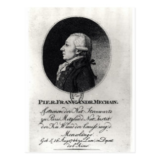 Retrato de Pedro Mechain Postal
