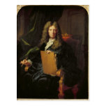 Retrato de Pedro Mignard c.1690 Tarjeta Postal