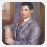 Retrato de Pedro Renoir- de Eugene Renoir Pegatinas Cuadradas