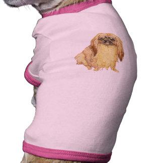 Retrato de Pekingese Camisetas Mascota