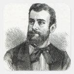 Retrato de Pellegrino Matteucci Pegatinas Cuadradas Personalizadas