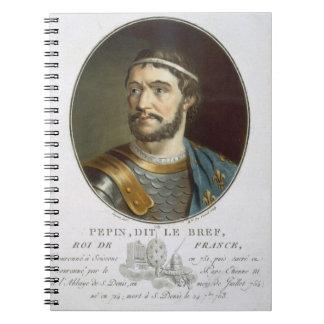 Retrato de Pepin llamado Le Bref rey del franc Libretas Espirales
