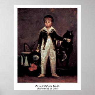 Retrato de Pepito Bonelis de Francisco De Goya Impresiones