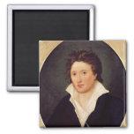 Retrato de Percy Bysshe Shelley, 1819 Imán Cuadrado