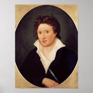 Retrato de Percy Bysshe Shelley, 1819 Póster