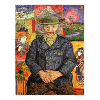 Retrato de Père Tanguy, bella arte de Van Gogh Postales