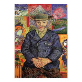 """Retrato de Pere Tanguy de Vincent van Gogh Invitación 5"""" X 7"""""""