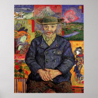 Retrato de Pere Tanguy de Vincent van Gogh Póster