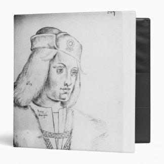 """Retrato de Perkin Warbeck Carpeta 1 1/2"""""""