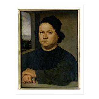 Retrato de Perugino, c.1504 (tempera en la madera) Postales