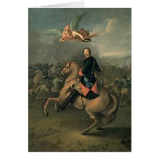 Retrato de Peter el grande contra a Tarjeta De Felicitación