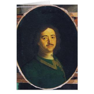 Retrato de Peter el grande Tarjeta De Felicitación