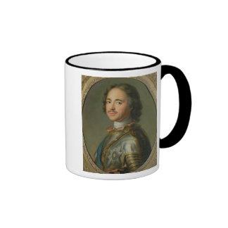 Retrato de Peter el grande Tazas De Café