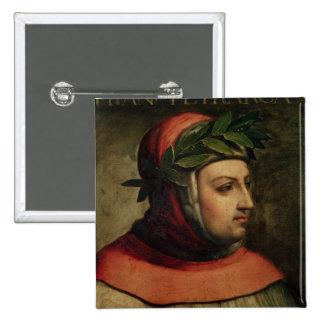Retrato de Petrarch Pin Cuadrado