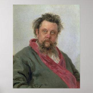 Retrato de Petrovich modesto Moussorgsky 1881 Póster