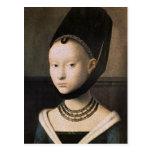 Retrato de Petrus Christus de una mujer joven Postal