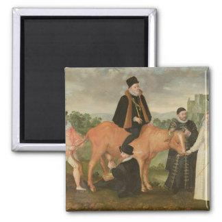 Retrato de Philip II, el duque de Alenzón Imán Cuadrado