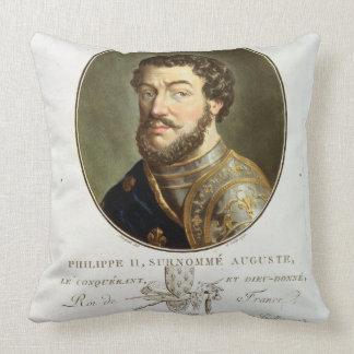 Retrato de Philip II llamado Augustus rey del fr Cojin
