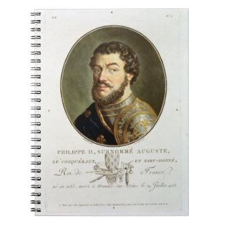 Retrato de Philip II llamado Augustus rey del fr Libro De Apuntes Con Espiral