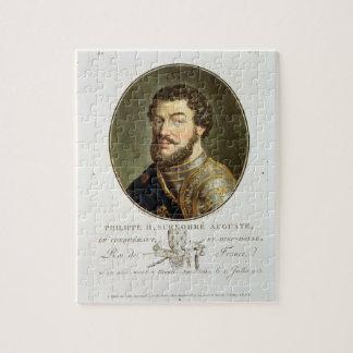 Retrato de Philip II, llamado Augustus, rey del fr Puzzles